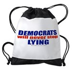 Democrats Lie Drawstring Bag