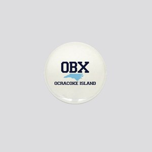 Ocracoke Island - Map Design Mini Button