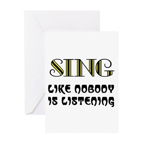 LOVE TO SING Greeting Card