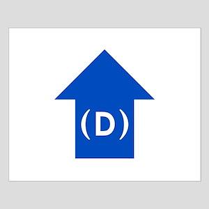 dem blue arrow 01 Small Poster