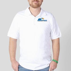 Ocracoke Island - Waves Design Golf Shirt