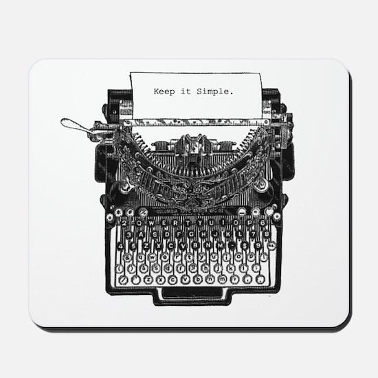 Vintage Typewriter Mousepad