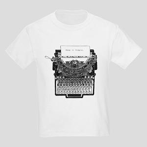 Vintage Typewriter Kids Light T-Shirt