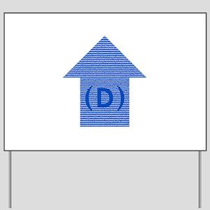 dem arrow all states 01 Yard Sign