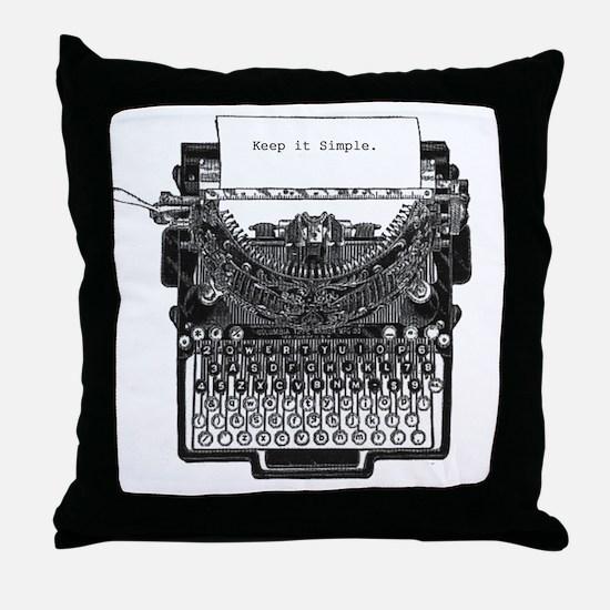 Vintage Typewriter Throw Pillow