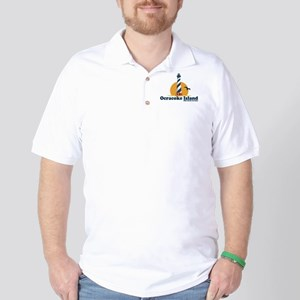 Ocracoke Island - Lighthouse Design Golf Shirt