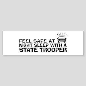 Funny State Trooper Sticker (Bumper)