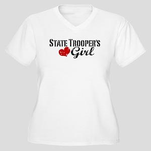 State Trooper's Girl Women's Plus Size V-Neck T-Sh