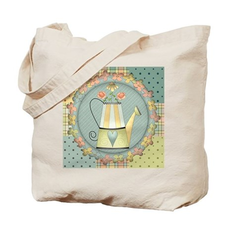 Country Watering Can Tote Bag