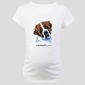 Saint Bernard Portrait Maternity T-Shirt
