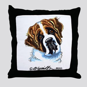 Saint Bernard Portrait Throw Pillow