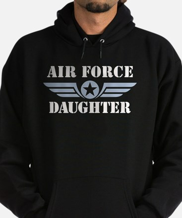 Air Force Daughter Hoodie (dark)