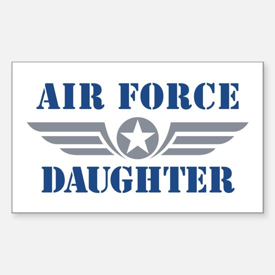 Air Force Daughter Sticker (Rectangle)