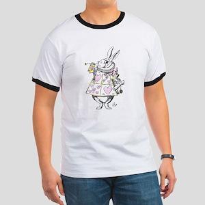White rabbit Ringer T