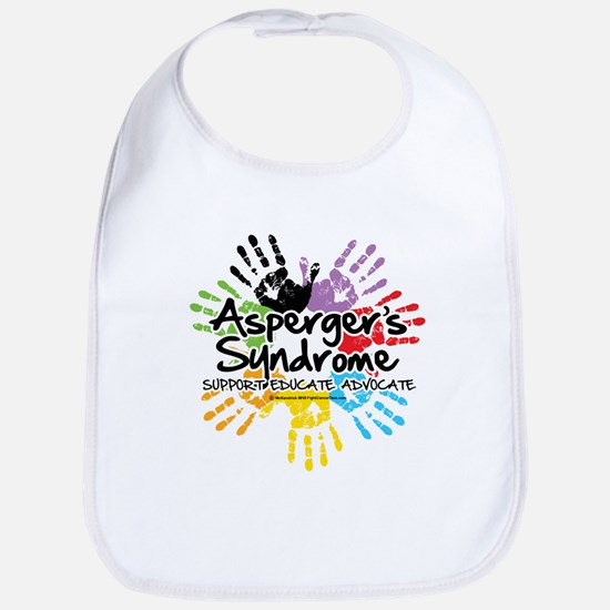 Asperger's Syndrome Handprint Bib