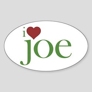 I Heart Joe Sticker (Oval)