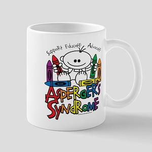 Asperger's Syndrome Crayons Mug