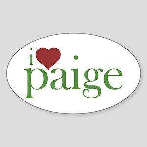 I Heart Paige Sticker (Oval)