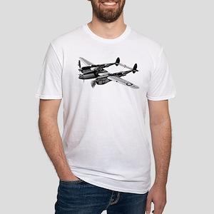 P-38 Lightning B&W Fitted T-Shirt