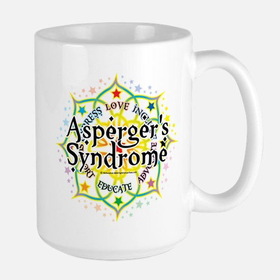 Asperger's Syndrome Lotus Large Mug