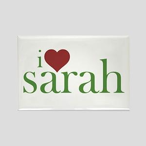 I Heart Sarah Rectangle Magnet