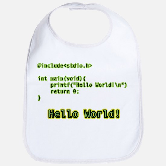 Hello Word Bib