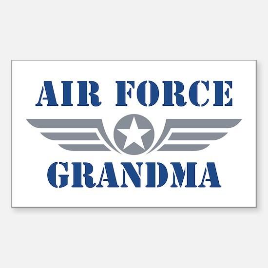 Air Force Grandma Sticker (Rectangle)