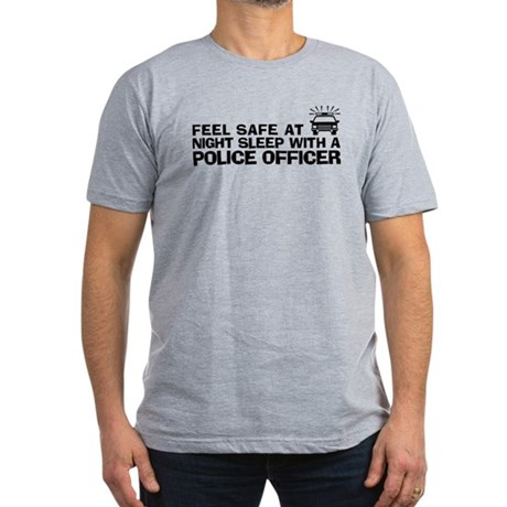 Funny Police Officer Men's Fitted T-Shirt (dark)