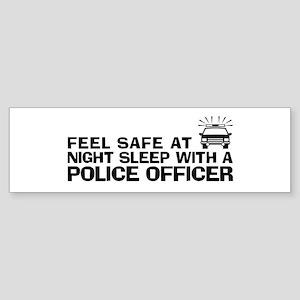 Funny Police Officer Sticker (Bumper)