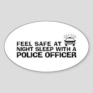 Funny Police Officer Sticker (Oval)