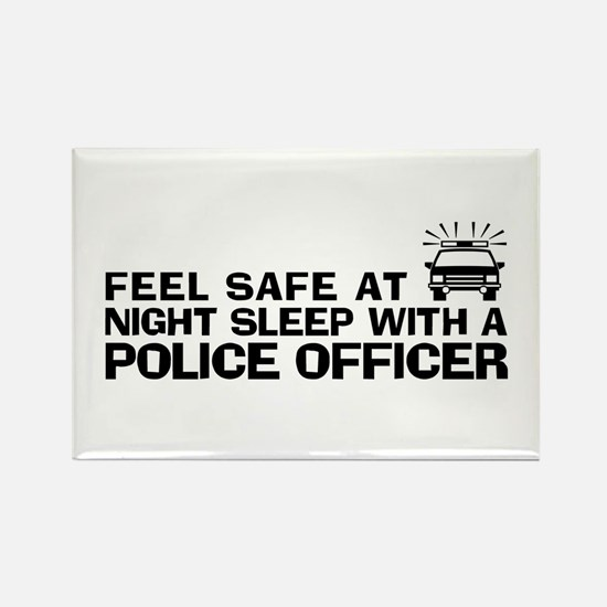 Funny Police Officer Rectangle Magnet