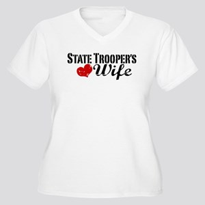 State Trooper's Wife Women's Plus Size V-Neck T-Sh
