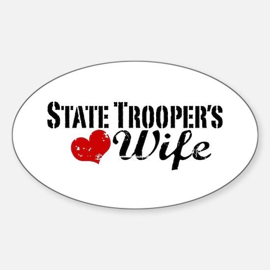 State Trooper's Wife Sticker (Oval)