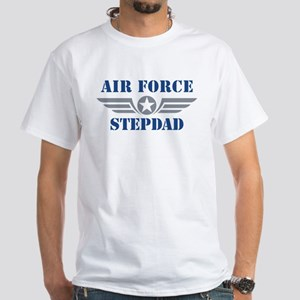 Air Force Stepdad White T-Shirt