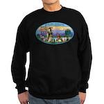 St Francis / dogs-cats Sweatshirt (dark)