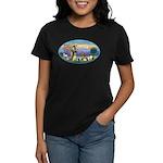St Francis / dogs-cats Women's Dark T-Shirt