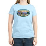 St Francis / dogs-cats Women's Light T-Shirt