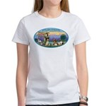 St Francis / dogs-cats Women's T-Shirt