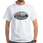 St Francis / dogs-cats White T-Shirt