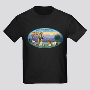 St Francis / dogs-cats Kids Dark T-Shirt