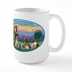 St Francis / dogs-cats Large Mug
