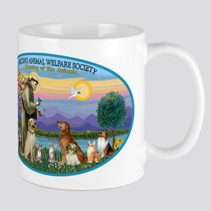 St Francis / dogs-cats Mug