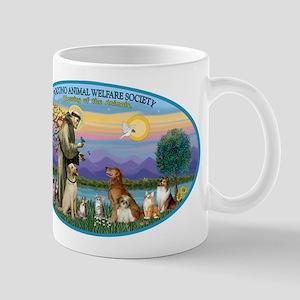 St Francis / dogs-cats Mug