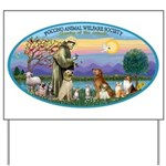 St Francis / dogs-cats Yard Sign
