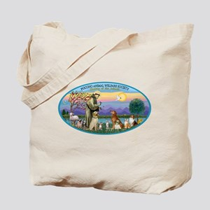 St Francis / dogs-cats Tote Bag