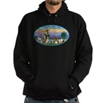 St Francis / dogs-cats Hoodie (dark)