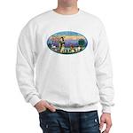 St Francis / dogs-cats Sweatshirt