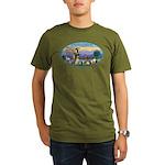 St Francis / dogs-cats Organic Men's T-Shirt (dark