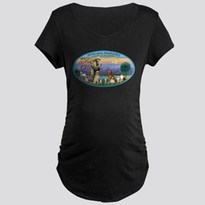 St Francis / dogs-cats Maternity Dark T-Shirt