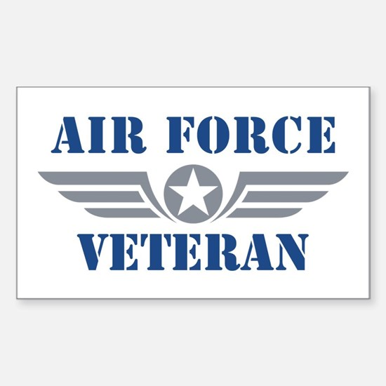 Air Force Veteran Sticker (Rectangle)